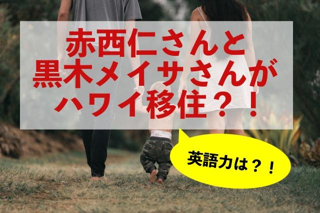 赤西仁さんと黒木メイサさんがハワイ移住?英語力は?