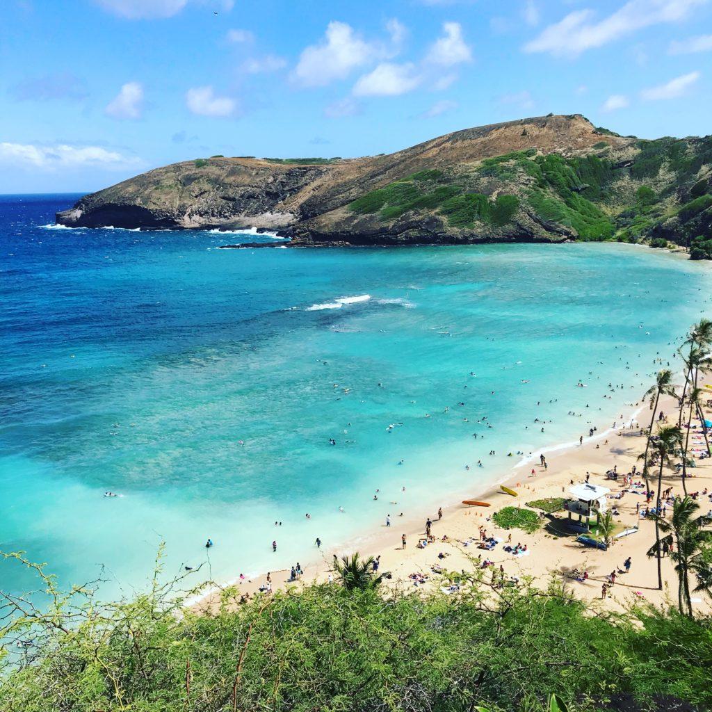 ハワイ、ハナウマベイの景色